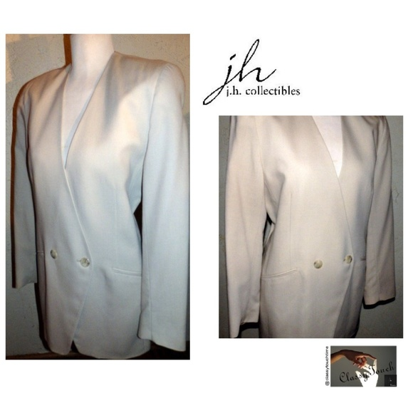 7e95b3c172 JH Collectibles Beige Long Double Breasted Blazer